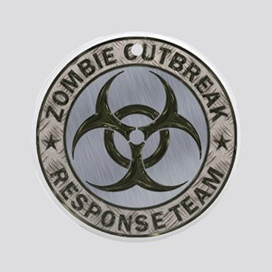Zombie Response Team Color Round Ornament